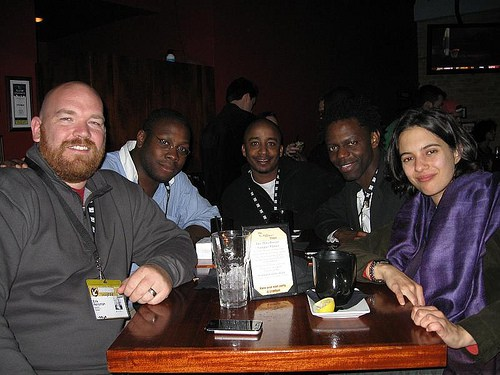 (L to R) Erik Hersman, Jon Gosier, David Kobia, Teddy Ruge, and Rose Shuman
