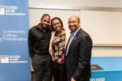 Jon Gosier, Renee Millett-Gosier and Mayor Michael Nutter